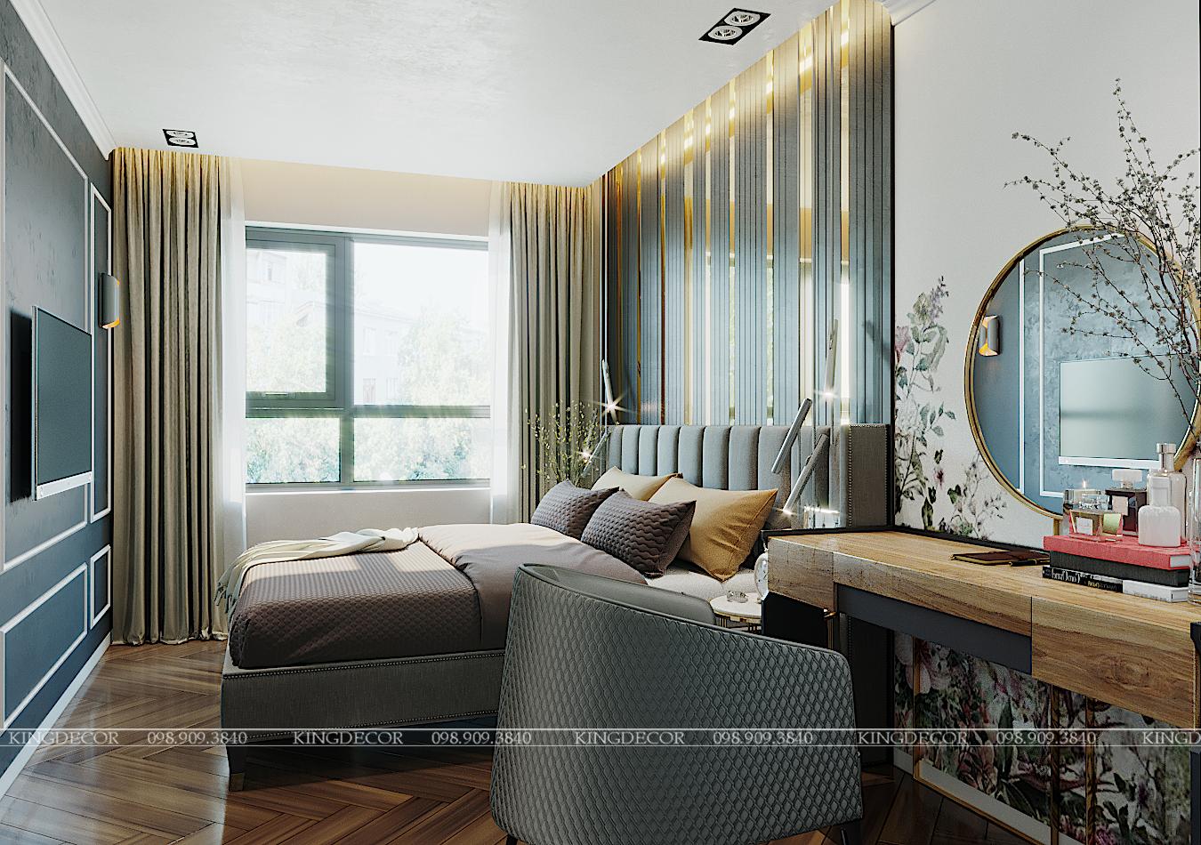 Thiết kế căn hộ 121m2 tại D'capitale