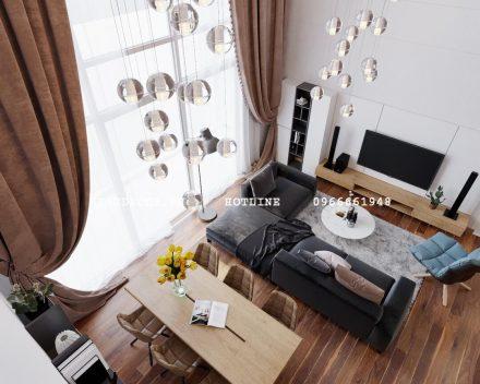 Thiết kế &Thi công nội thất căn hộ Duplex tại Vinhomes Gardenia