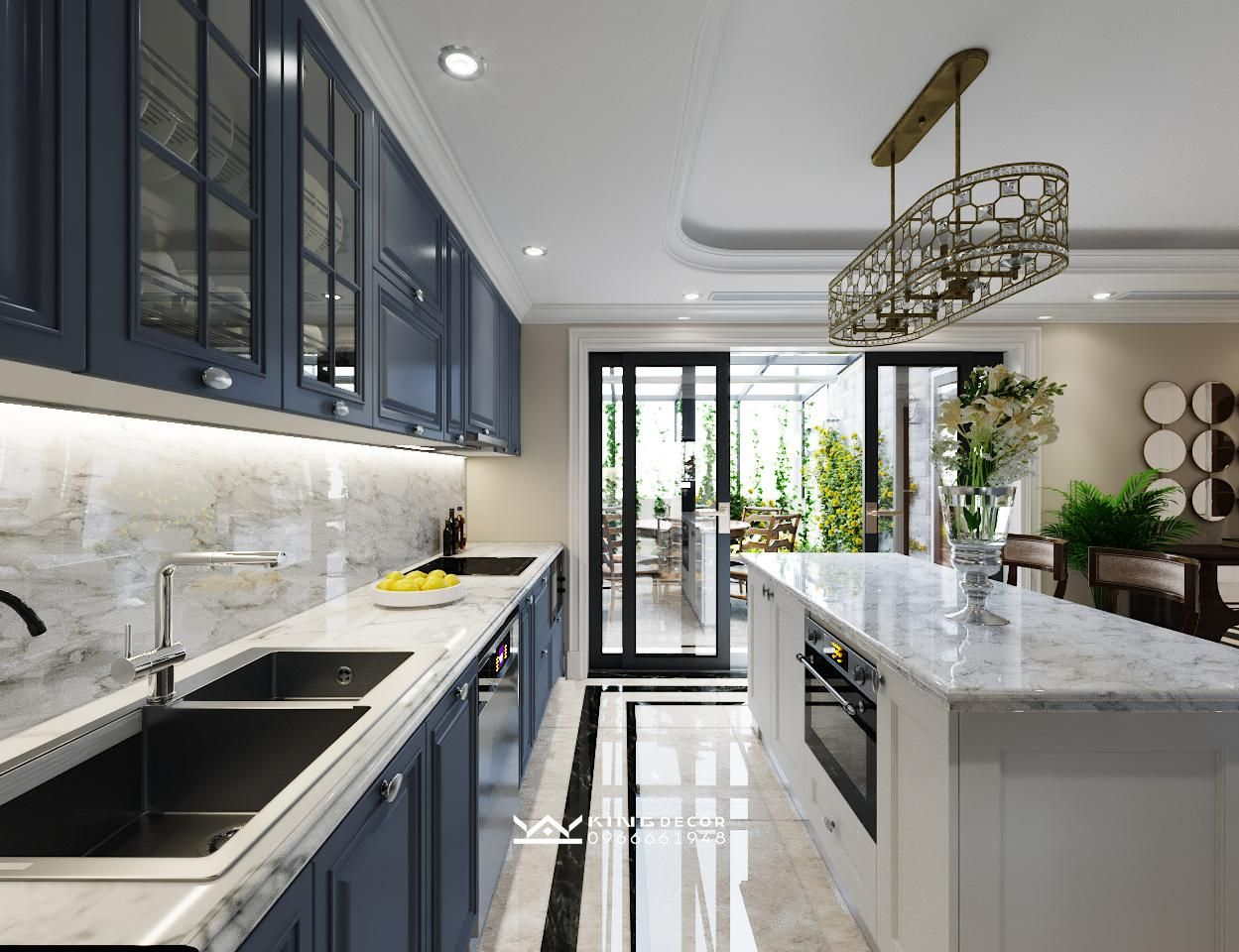 Thiết kế nội thất căn hộ New slyline