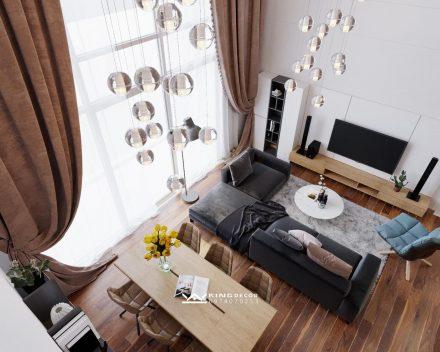 VINHOMES GARDENIA에서 DUPLEX아파트 내부의 설계 및 시공