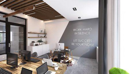 AN HUNG에 인접한 사무실의 인테리어 설계 – 450M2바닥 표면