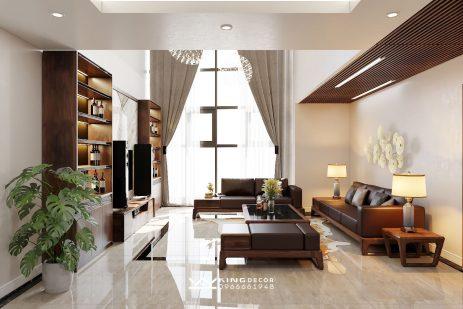 Thiết kế nội thất căn hộ Duplex tại New Skyline – Anh Long