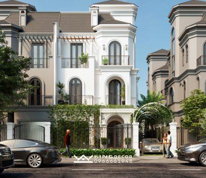 Thiết kế biệt thự song lập 150m2 tại khu Sao Biển – Vinhomes Ocean Park
