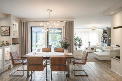 Phòng khách - bếp hiện đại đẹp